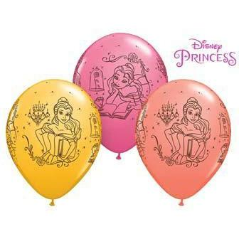 11 Inch Disney Princess Belle Latex Balloons 25pk
