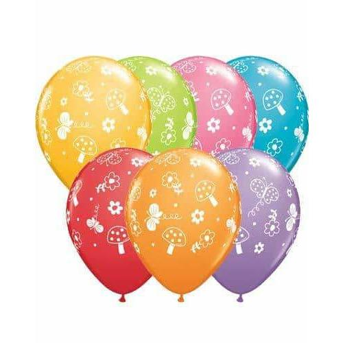 11 Inch Garden And Butterflies Latex Balloons 25pk