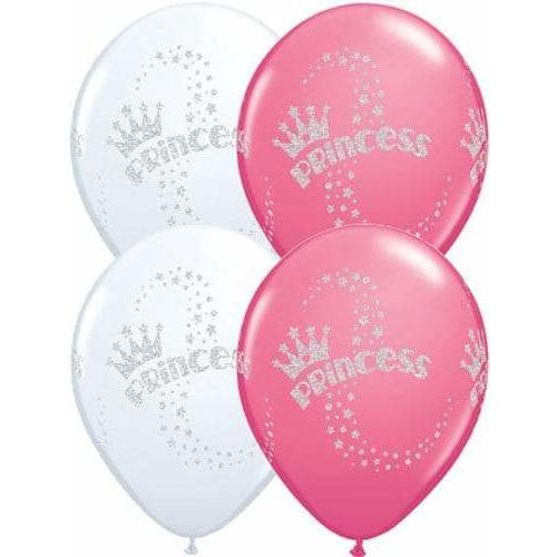 11 Inch Glitter Princess Latex Balloons 25pk