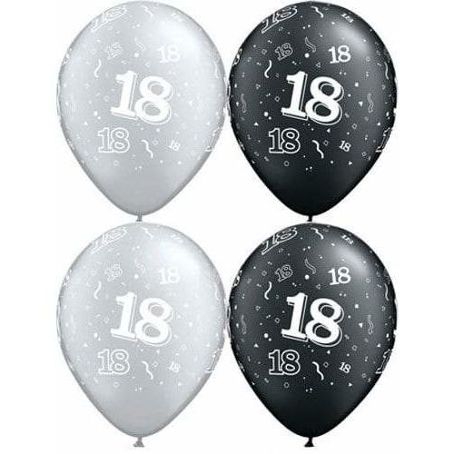 11 Inch Happy 18th Assorted Latex Balloons 25pk