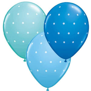11 Inch Small Polka Dots Male Latex Balloons 6pk