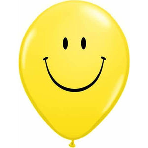 11 Inch Smile Face Yellow Latex Balloons 50pk