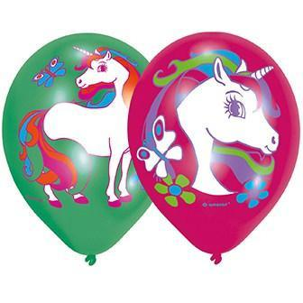 11 Inch Unicorn Party Balloons 6pk