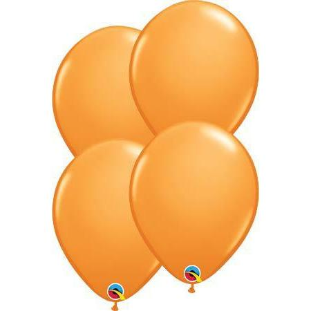 "11"" Orange Latex Balloons 6pk"
