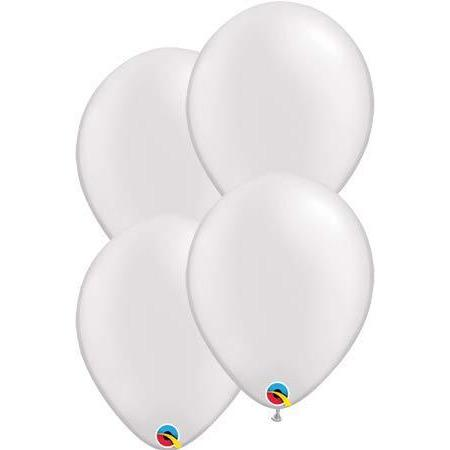 "11"" Pearl White Latex Balloons 6pk"