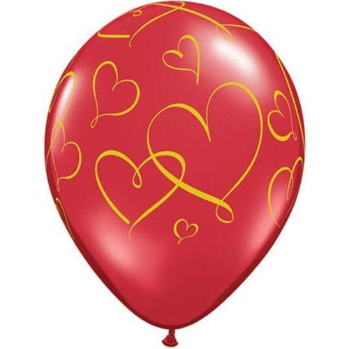 "11"" Romantic Roses Latex Balloons 25pk"