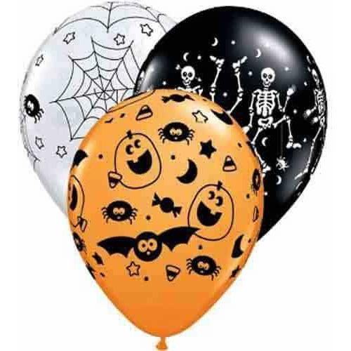 "11"" Special Spooky Assortment Latex Balloons 25pk"