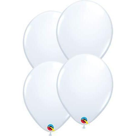 "11"" White Latex Balloons 6pk"