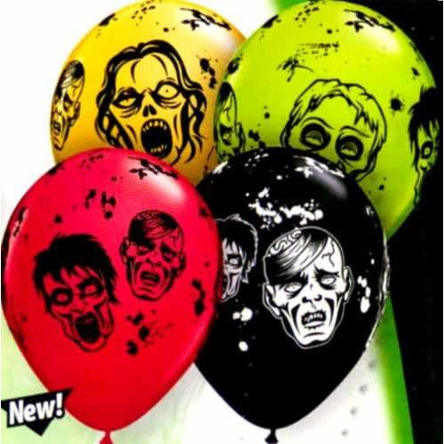 "11"" Zombie Assorted Latex Balloons 25pk"