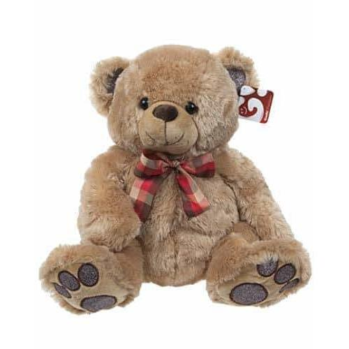 14 Inch Glitterpaws Brown Bear