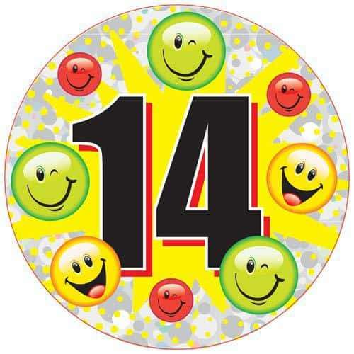 14 Smile Face Party Badge