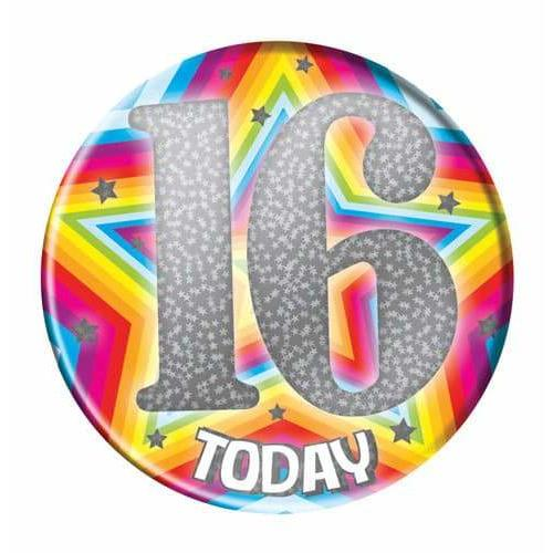 16 Today Silver Holographic Big Badge