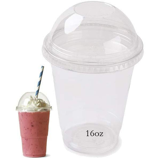 16oz Milkshake Cup With Lid x4