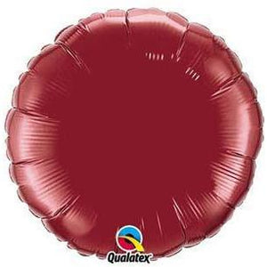 "18"" Burgundy Round Foil Balloon"