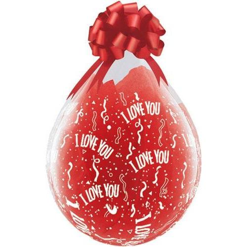 "18"" I Love You A Round Stuffing Latex Balloons 25pk"