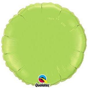 "18"" Lime Green Round Foil Balloon"