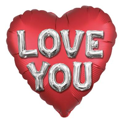 "18"" Love You Satin Luxe Foil Balloon"