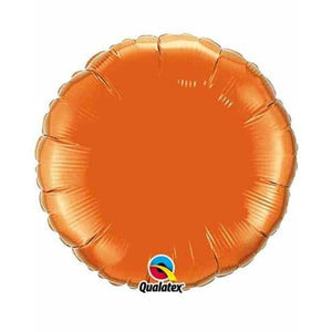 "18"" Orange Round Foil Balloon"