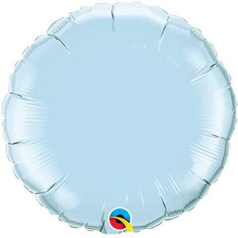 "18"" Pearl Light Blue Round Foil Balloon"