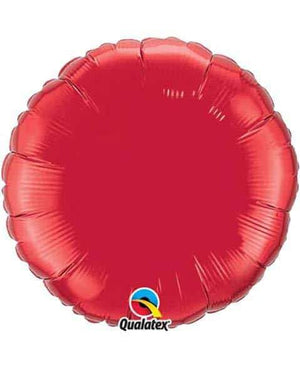 "18"" Ruby Red Round Foil Balloon"