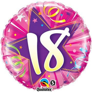 18 Shining Star Hot Pink Foil Balloon