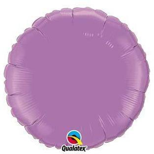 "18"" Spring Lilac Round Foil Balloon"