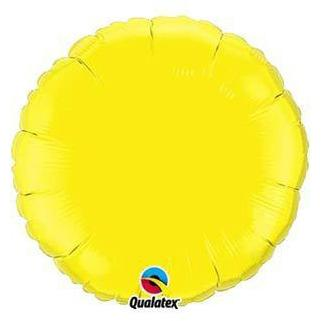 "18"" Yellow Round Foil Balloon"