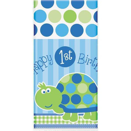 1st Birthday Turtle Plastic Tablecover x1