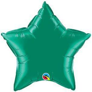 "20"" Emerald Green Star Foil Balloon"