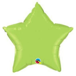 "20"" Lime Green Star Foil Balloon"