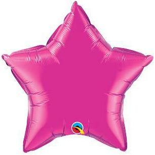 "20"" Magenta Star Foil Balloon"