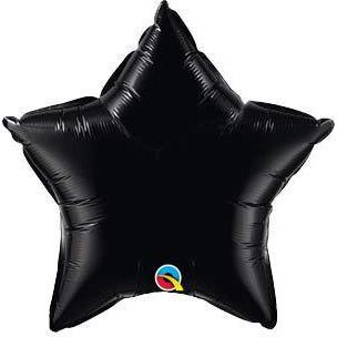 "20"" Onyx Black Star Foil Balloon"