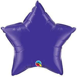 "20"" Quartz Purple Star Foil Balloon"