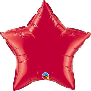"20"" Ruby Red Star Foil Balloon"