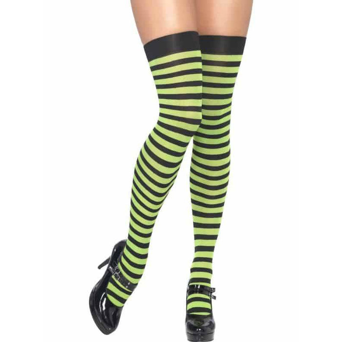 Striped Opaque Hold Ups