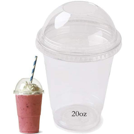 20oz Milkshake Cup With Lid x4