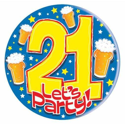 21 Lets Party With Beer Big Badge