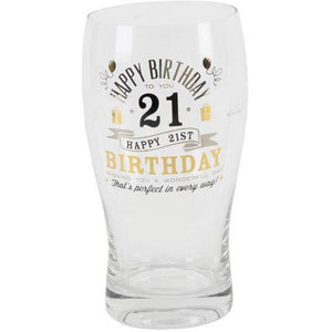 21st Birthday Pint Glass