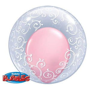 "24"" Fancy Filigree Deco Bubble Balloon"