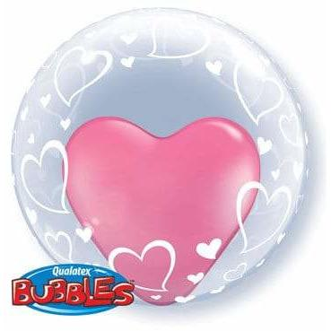 "24"" Stylish Hearts Deco Bubble Balloon"