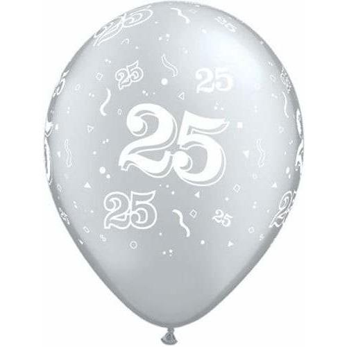 25th Anniversary A Round Latex Balloons x25