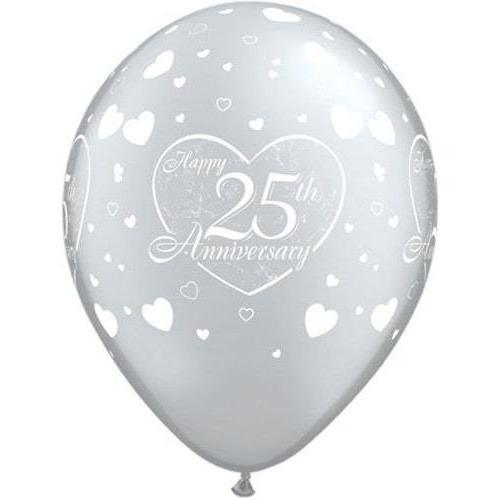 25th Anniversary Little Hearts Latex Balloons x25
