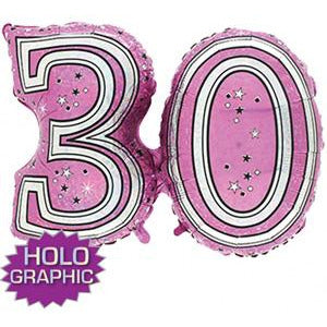 Pink 30 Jointed Number Shape Balloons