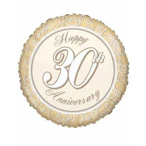 30th Anniversary Foil Balloon