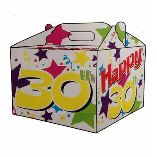 30th Birthday Party Carry Handle Balloon Box