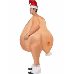 Inflatable Roast Turkey Costume - mypartymonsterstore