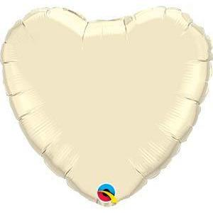 "36"" Pearl Ivory Heart Foil Balloon"