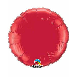 "36"" Ruby Red Round Foil Balloon"