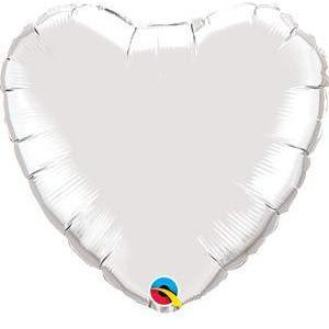"36"" Silver Heart Foil Balloon"