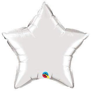 "36"" Silver Star Foil Balloon"